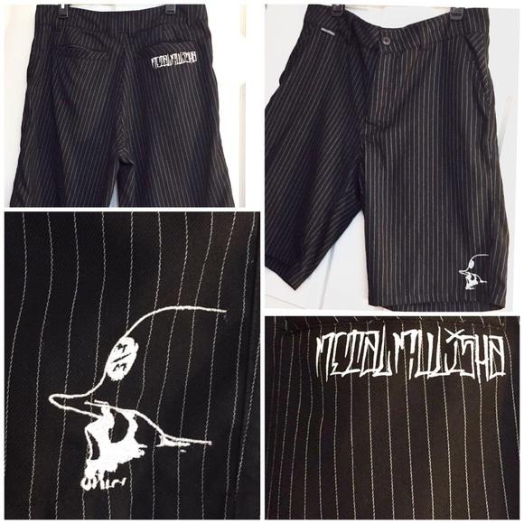 adde25c0fc6e7 Metal Mulisha Men's Striped Shorts Size 34. M_5b98a85d34a4ef6ea83d6d4c